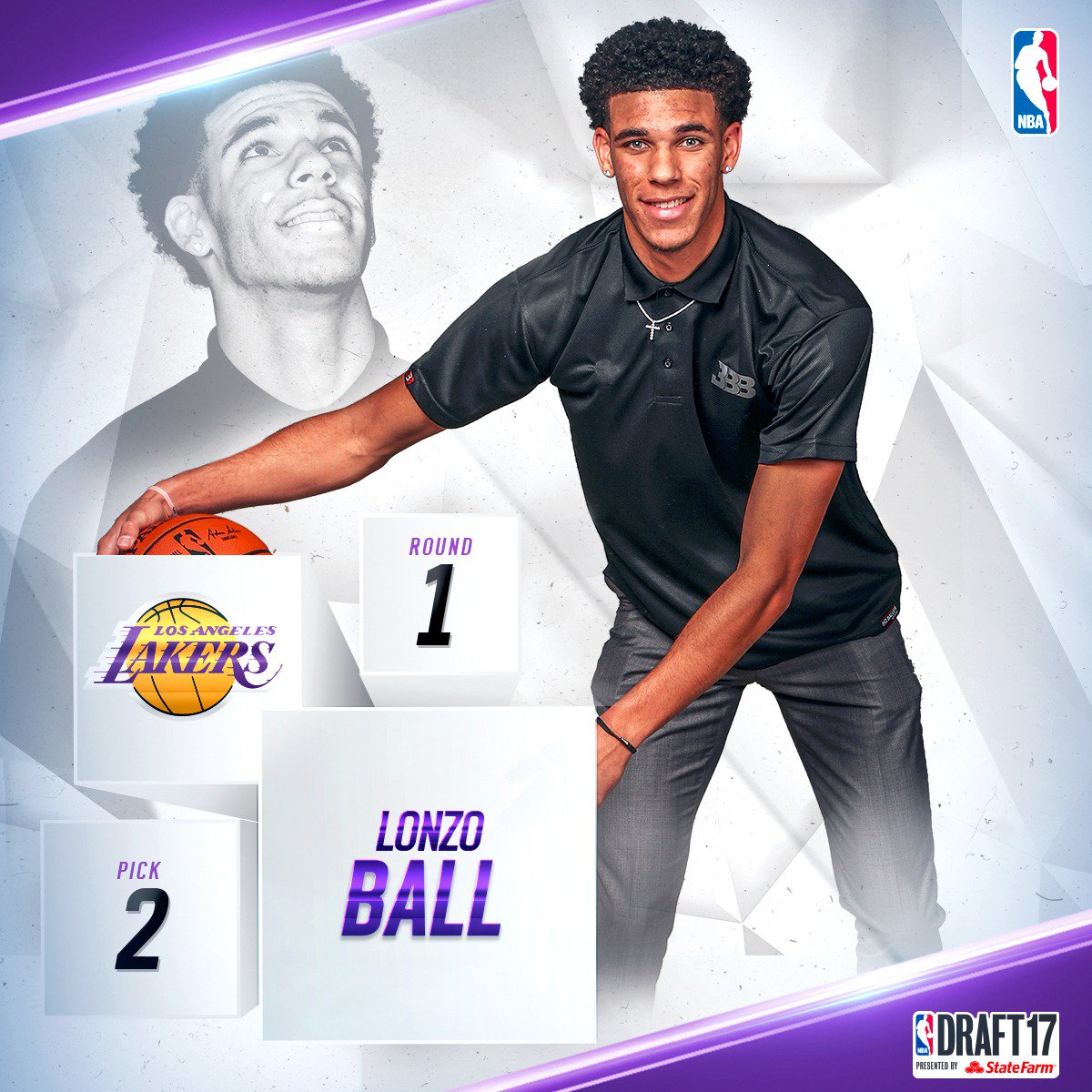With the second pick in the 2017 #NBADraft, the @Lakers select @ZO2_ !