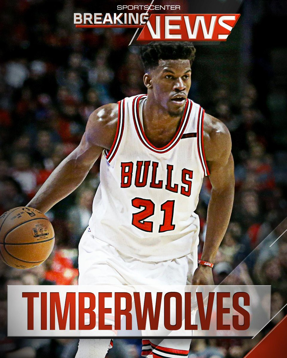 Breaking: T-Wolves agree in principle to acquire Jimmy Butler, No.16 from Bulls for No. 7, Zach LaVine, & Kris Dunn. (via )@ESPNSteinLine