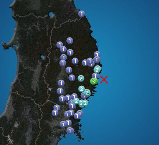 6月23日 8:59 震度3 震源:岩手県沖 M4.4 深さ約50km この地震による津波の心配はありません https://t.co/7N...