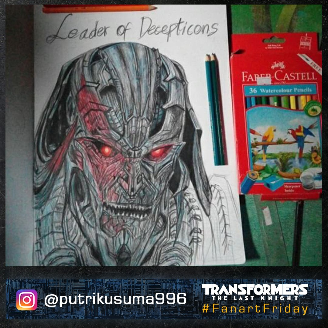 Even in pencil, Megatron&#39;s looks could kill. #FanArtFriday #Transformers <br>http://pic.twitter.com/HDRQuF6rAy