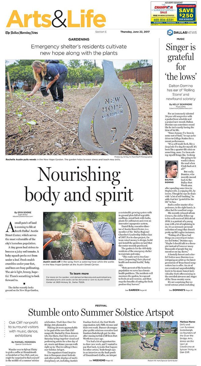 📰 Shelter residents cultivate new hope; stumble into Summer Solstice Artspot and more: In today's Arts & Life https://t.co/kRnNM7w4aG