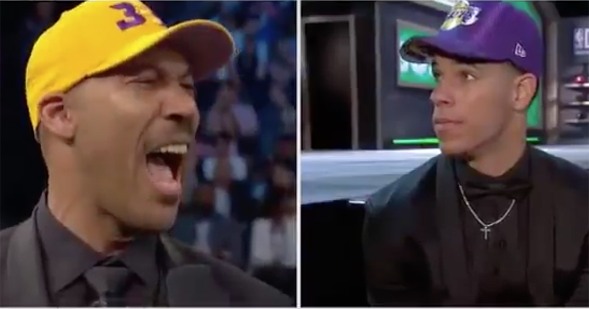 VIDEO: LaVar Ball emphatically states Lonzo is going to take the Lakers to the playoffs next season. https://t.co/gaFX24bdSK