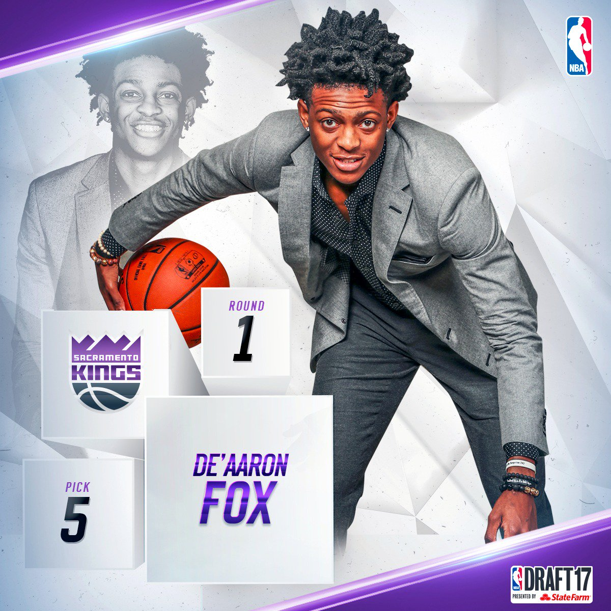 With the fifth pick in the 2017 #NBADraft, the @SacramentoKings select...