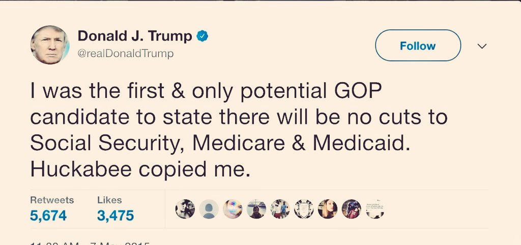 DON&#39;T LOOK. Trump does NOT want you to see this tweet today  He doesn&#39;t want you to know he is a TOTAL FRAUD  RT!  #HealthcareBill #Medicaid <br>http://pic.twitter.com/Dj3PAk3zpY