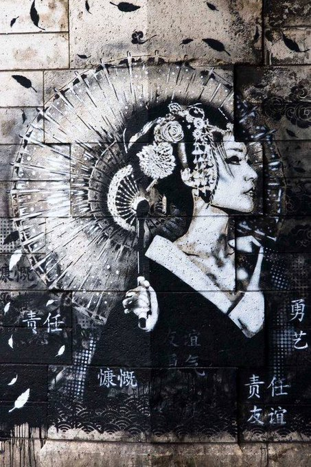 Elegant #Geisha – #Creative & #Beauty #StreetArt