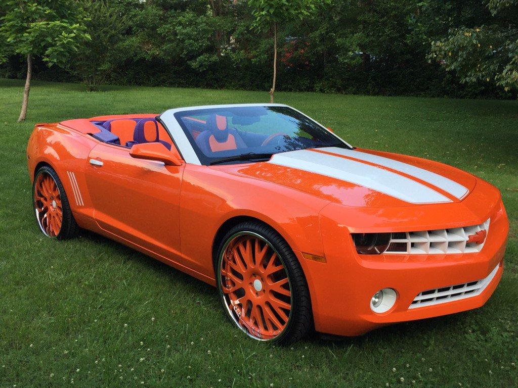 "Vic Beasley Camaro >> Norman Parker on Twitter: ""Vic Beasley Jr Beautiful Custom Clemson Orange Camaro!! It's Sema ..."
