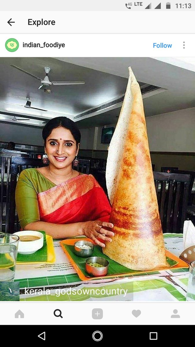 Ever had a dosa so big it sorted you into Gryffindor? https://t.co/tuamjzhONt