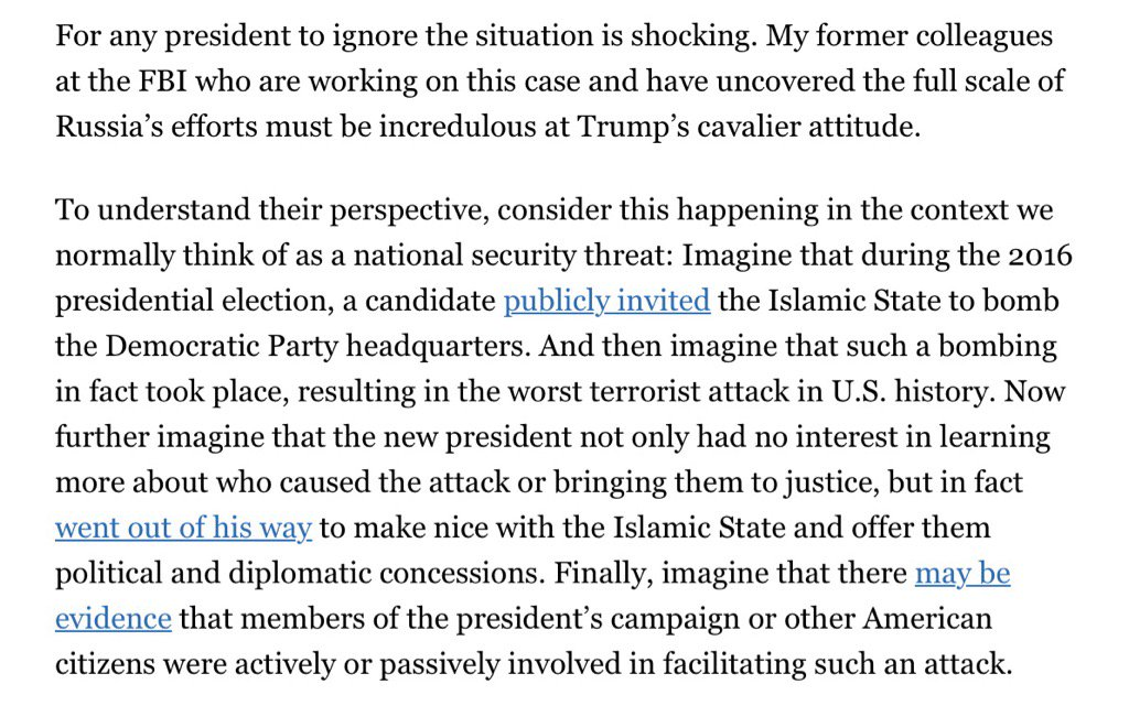 A former FBI agent offers an illuminating analogy about Trump and Russian hacking. https://t.co/smTVeo4dlJ https://t.co/bDVDF7u8op