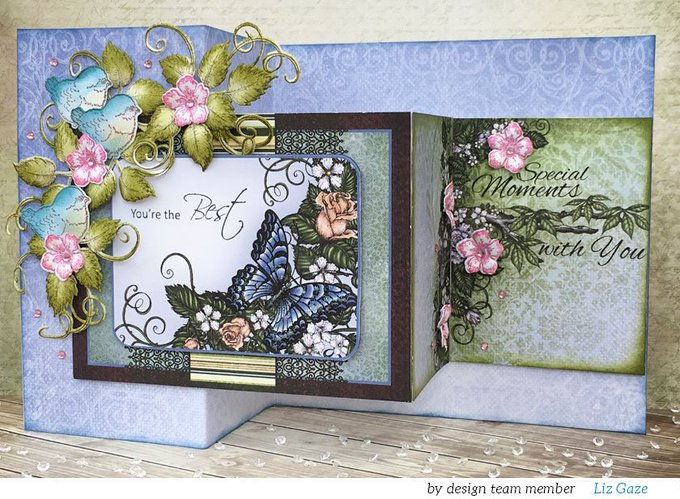 How to craft a fabulous floral card so that your day is WOWED: Z-fold card tutorial