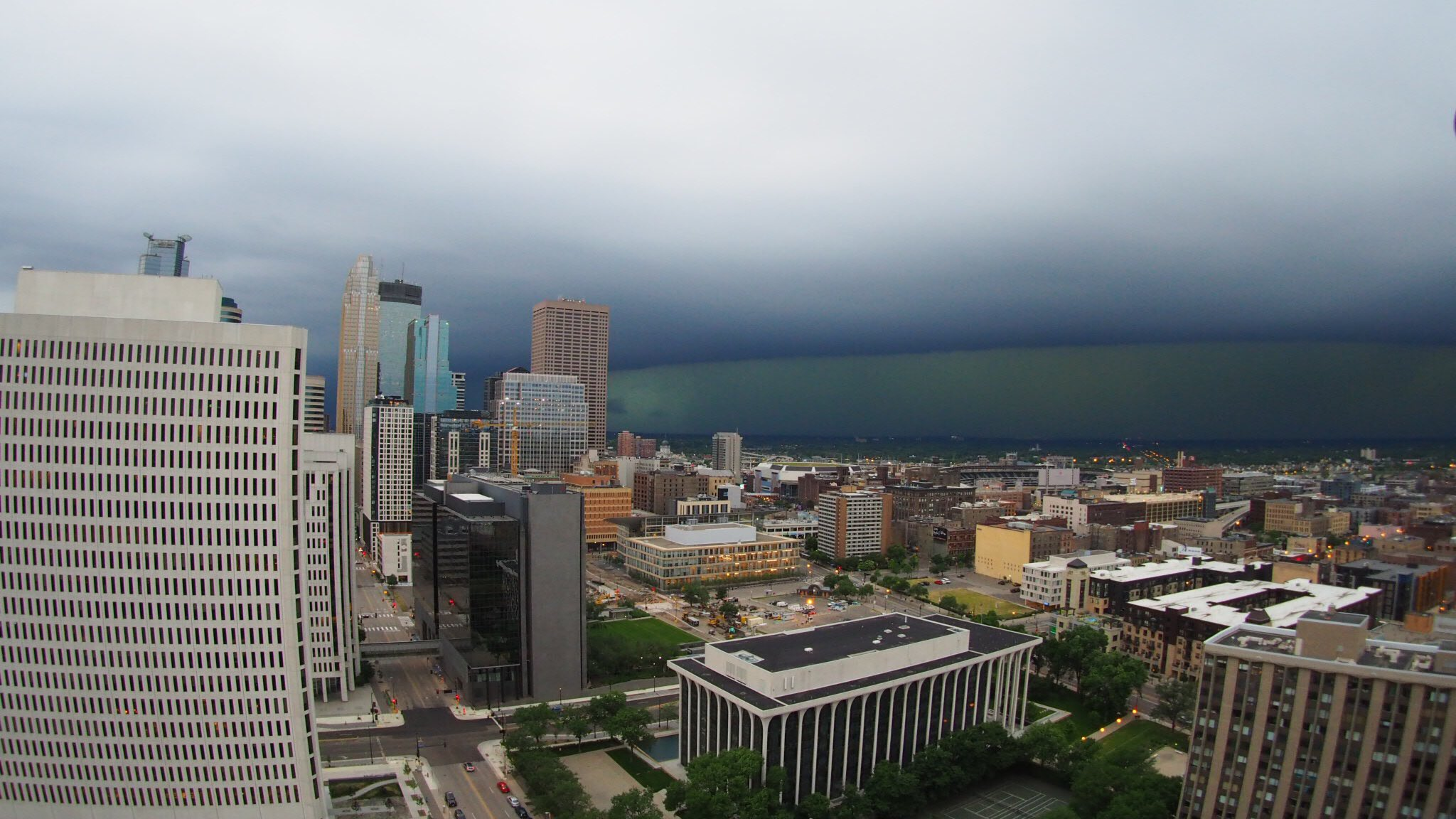 Thumbnail for Wild Sunday morning storm turns sky green, brings hail through Twin Cities