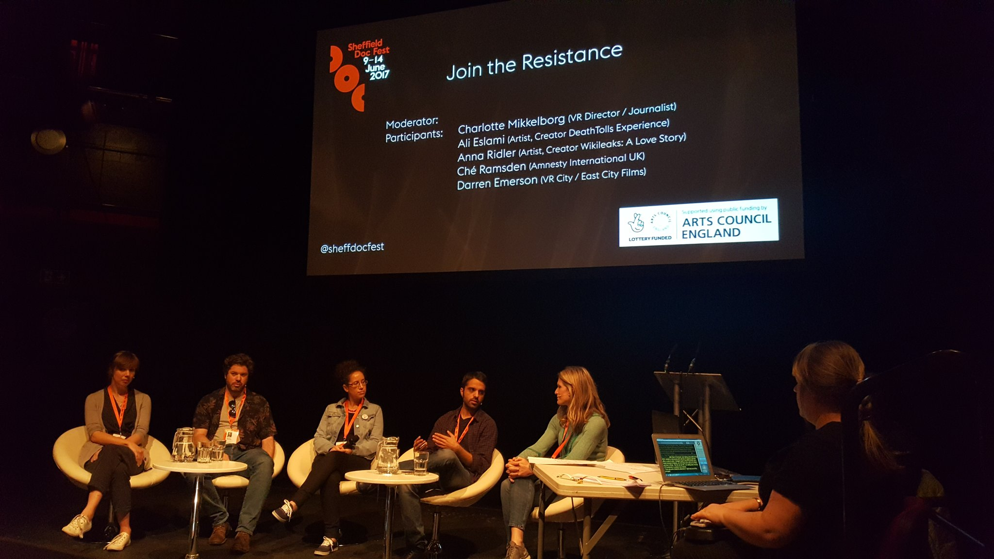 Fascinating panel on the political power of cross-platform docs happening now #alternaterealities #sheffdocfest https://t.co/zVCDgrd9uO