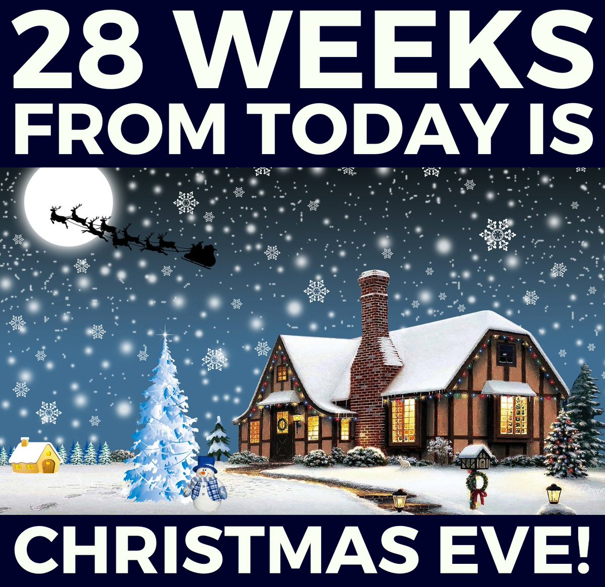 Weeks Till Christmas.Your Christmas Countdown On Twitter 28 Weeks Until