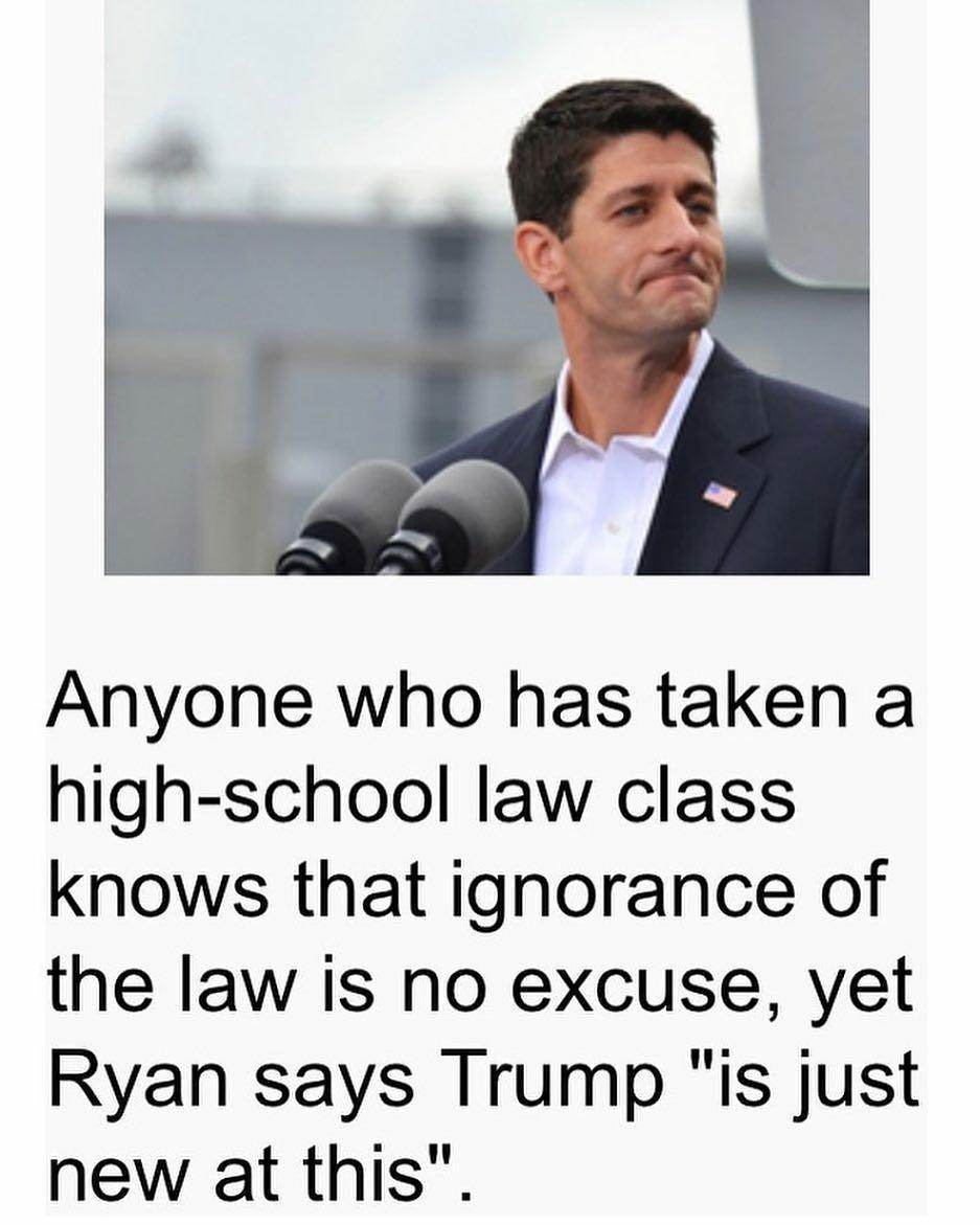 Ignorance of the law does not excuse @realDonaldTrump  #CNNSOTU https:...