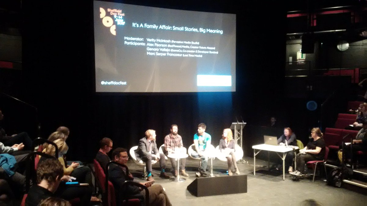 Northern Film School @MA_documentary attends #alternativereality @sheffdocfest The future is alternative @NFSFilmTV
