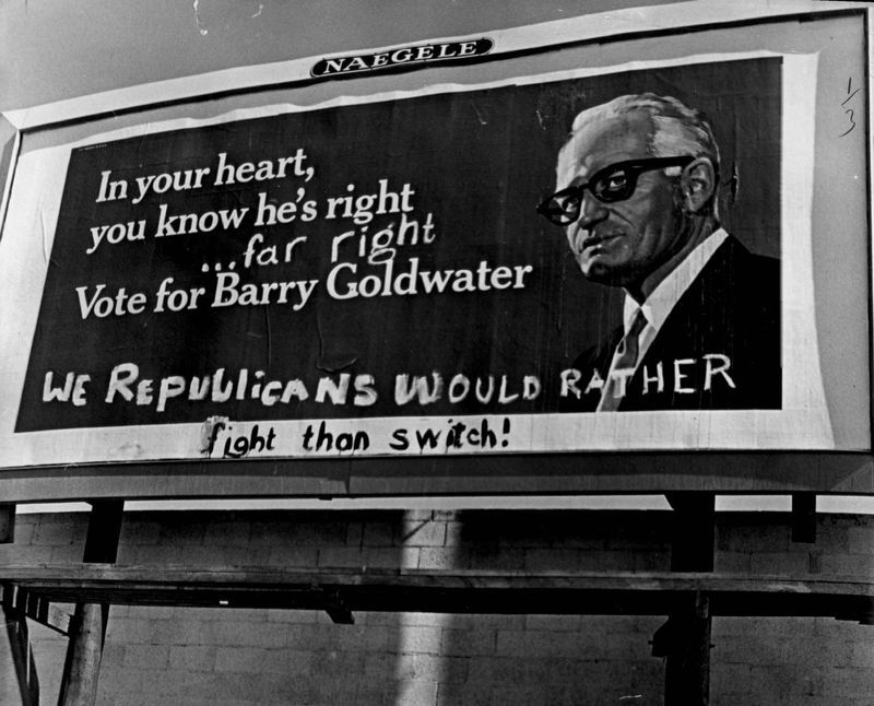 #vintage #Partisans of both parties have been at work on the Barry Goldwater billboard at S. Dahlia Street and E. …  http:// ift.tt/2sgQHST  &nbsp;   <br>http://pic.twitter.com/9KRP6dtM1Q