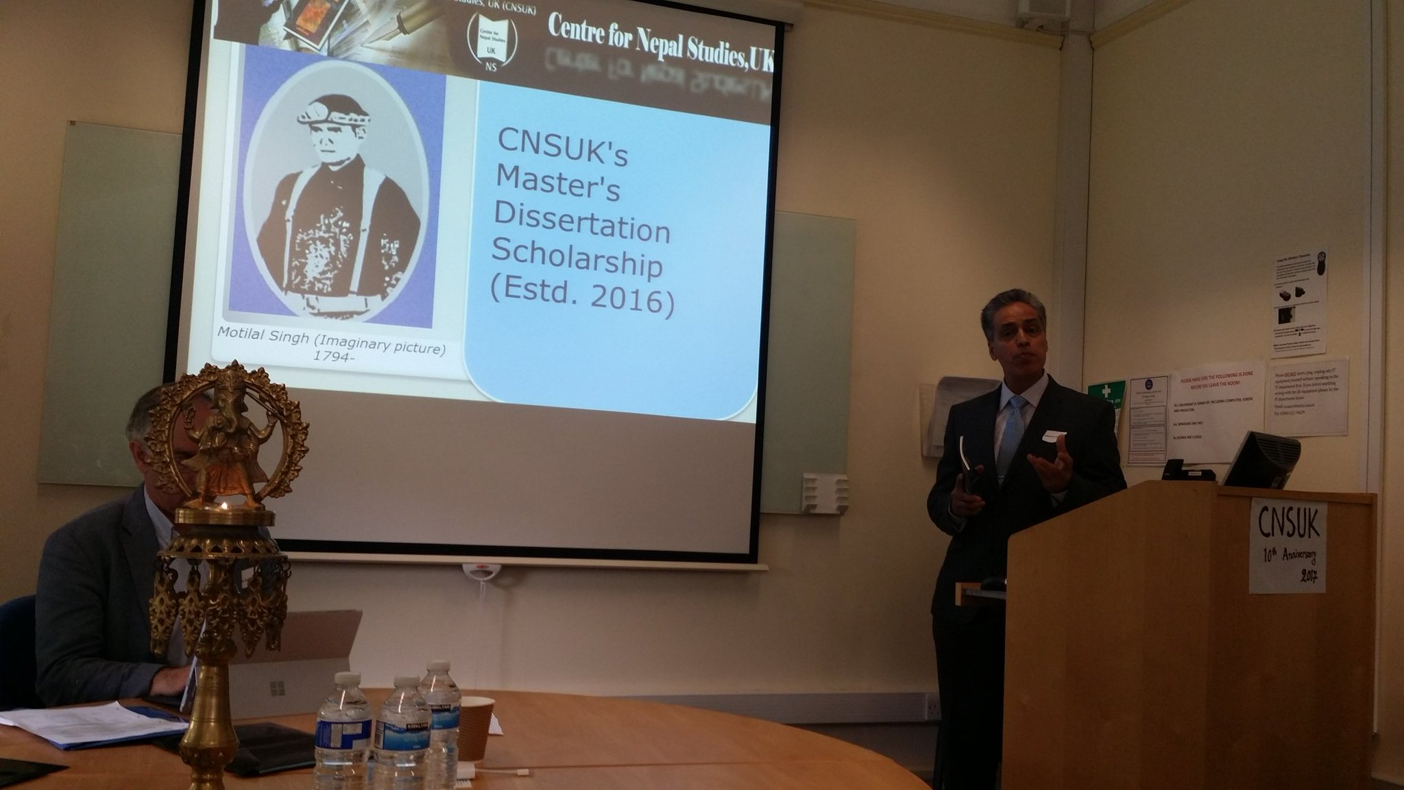Lokendra Dhakal presenting on CNSUK Motilal scholarship #CNSUK10 https://t.co/EOWZwNzusn