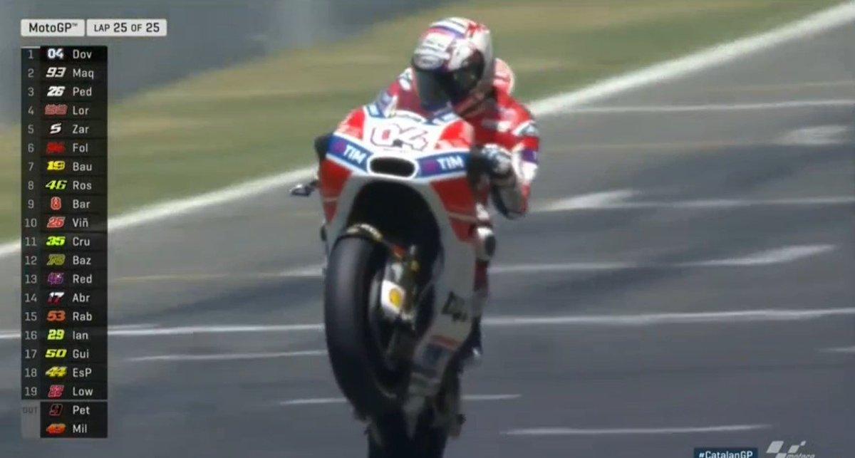MotoGP: un grande Dovizioso vince il Gp Catalogna, Valentino 8°