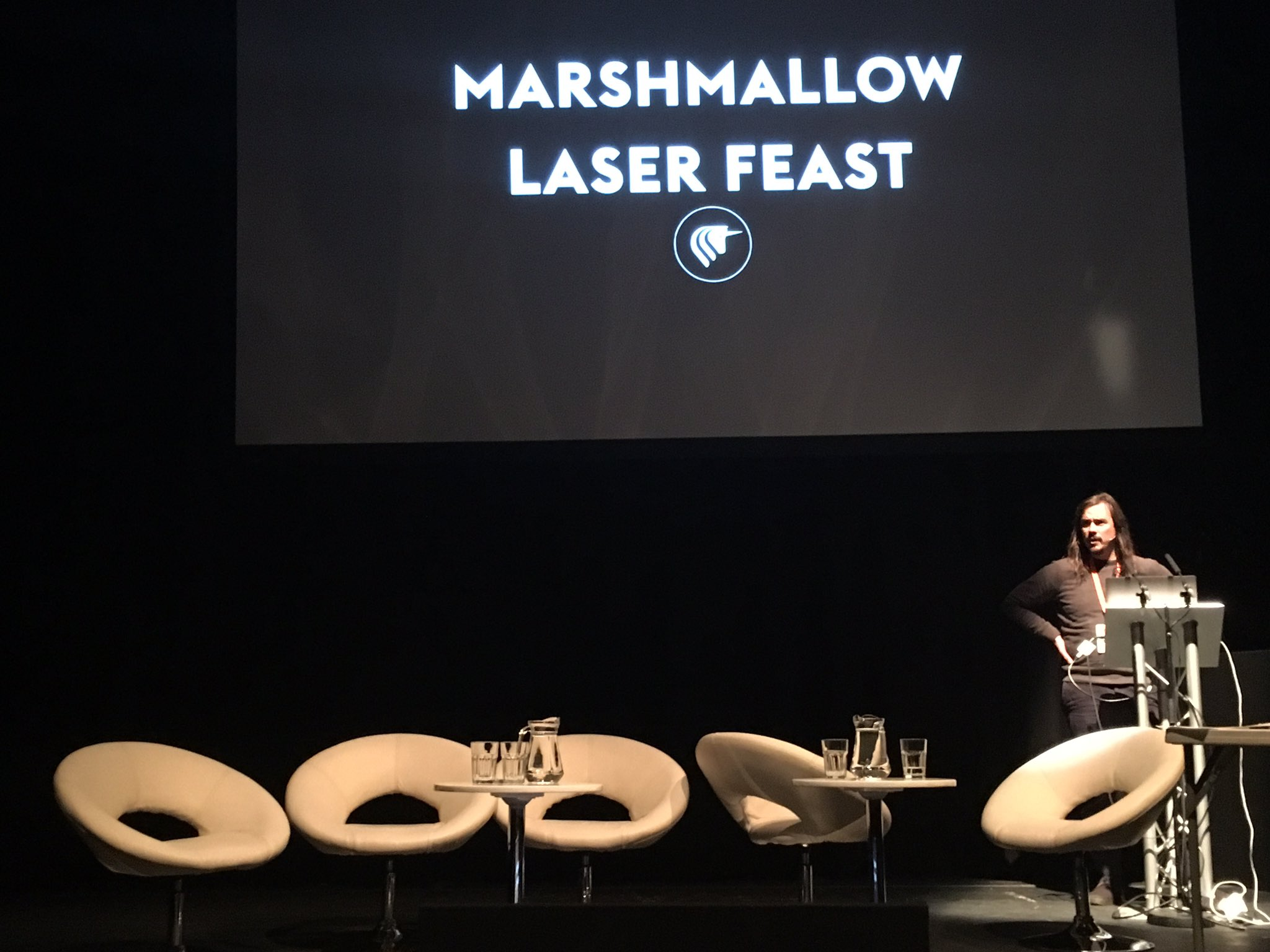 Robin McNicholas from @marshmallowlf talks turning the isolation of VR into a communal experience @ Alternate Realities Summit #sheffdocfest https://t.co/6L7kF8oXMV