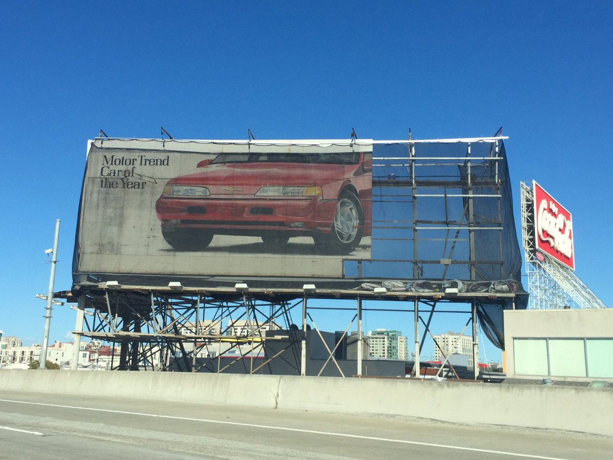 Ford Thunderbird ghost sign on 101 in downtown San Francisco. Circa 1990? https://t.co/G94WCL4yqw