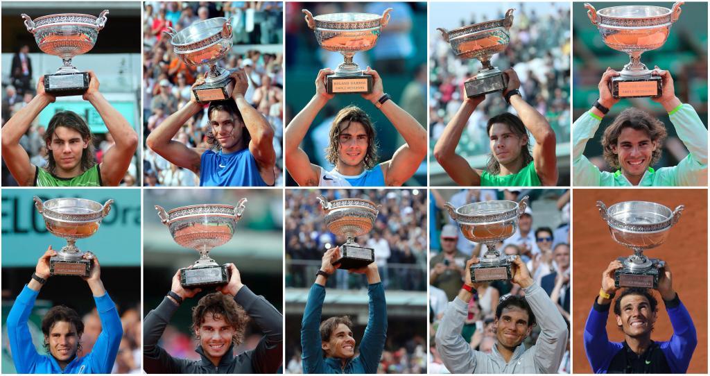 Tennis: Rafael Nadal fa 10 al Roland Garros 2017 di Parigi