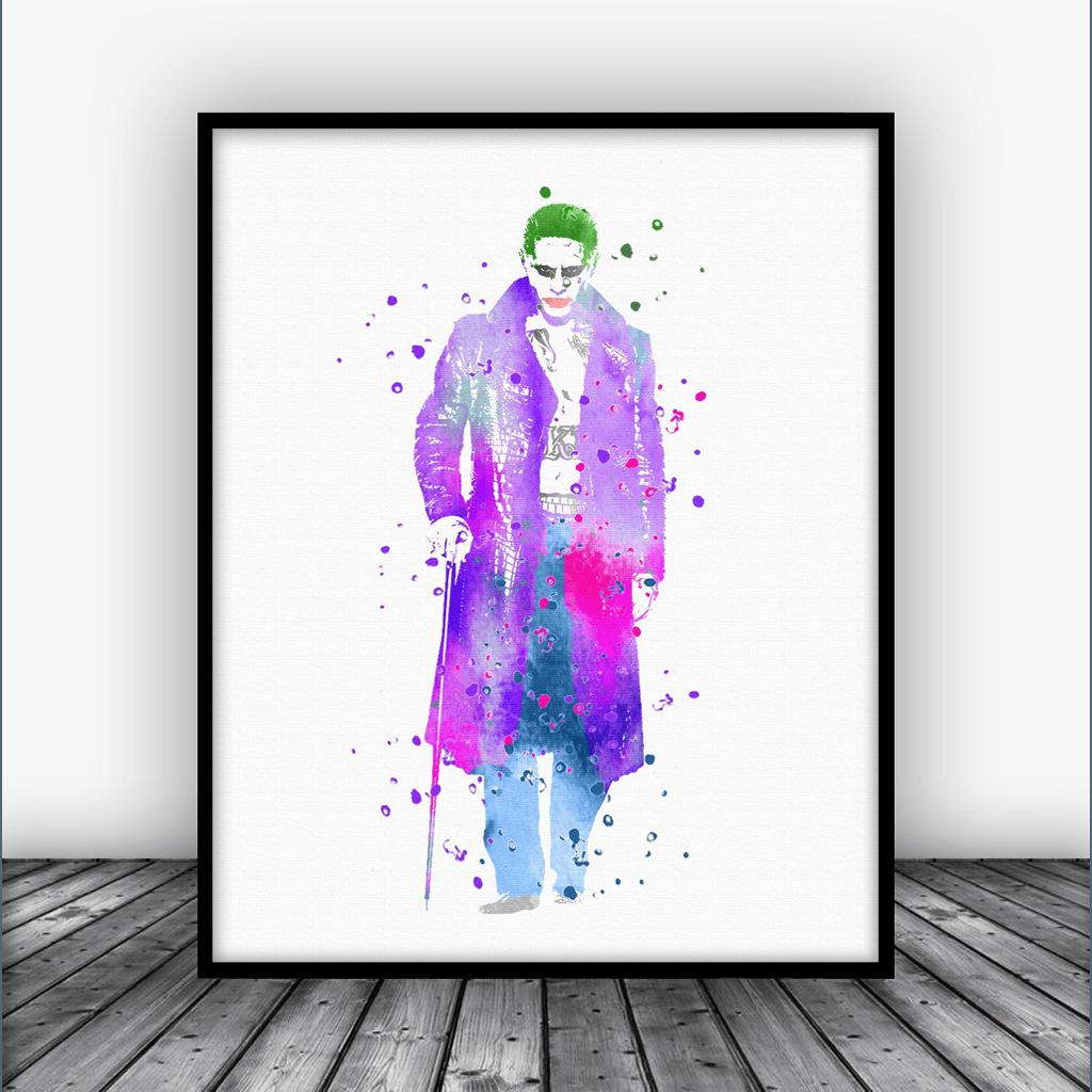 Suicide Squad The Joker Art Print Poster   From $10.00  #MarvelNow #NurseryArt #KidsRoom #Nursery #Marvelous    https:// goo.gl/Q81QRN  &nbsp;  <br>http://pic.twitter.com/tKcU0qLnft