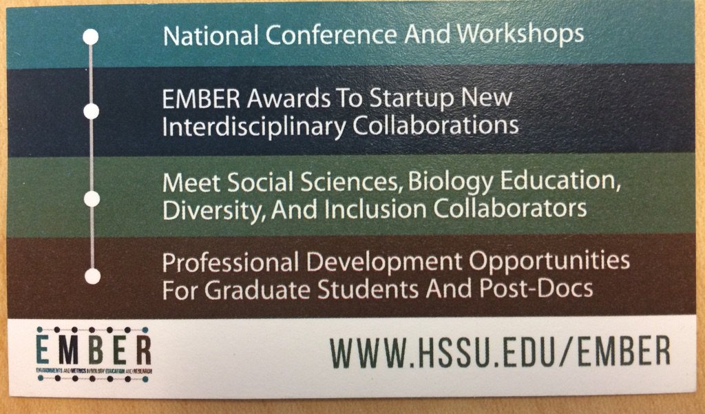 at @NSF funded #EMBER2017 network @HarrisStowe on #diversity & biology education research https://t.co/H3IOKE35Cr https://t.co/gLpbj8xfku