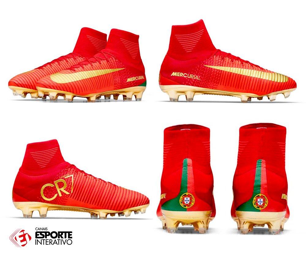 Com vocês, a nova chuteira de Cristiano Ronaldo, que será usada na Copa das Confederações! SENSACIONAL! 😎🇵🇹