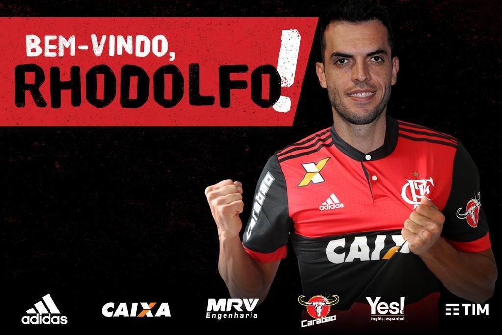 O Flamengo confirma a contratação do zagueiro Rhodolfo. O atleta será apresentado amanhã no Ninho do Urubu. Bem-vindo! #VamosFlamengo