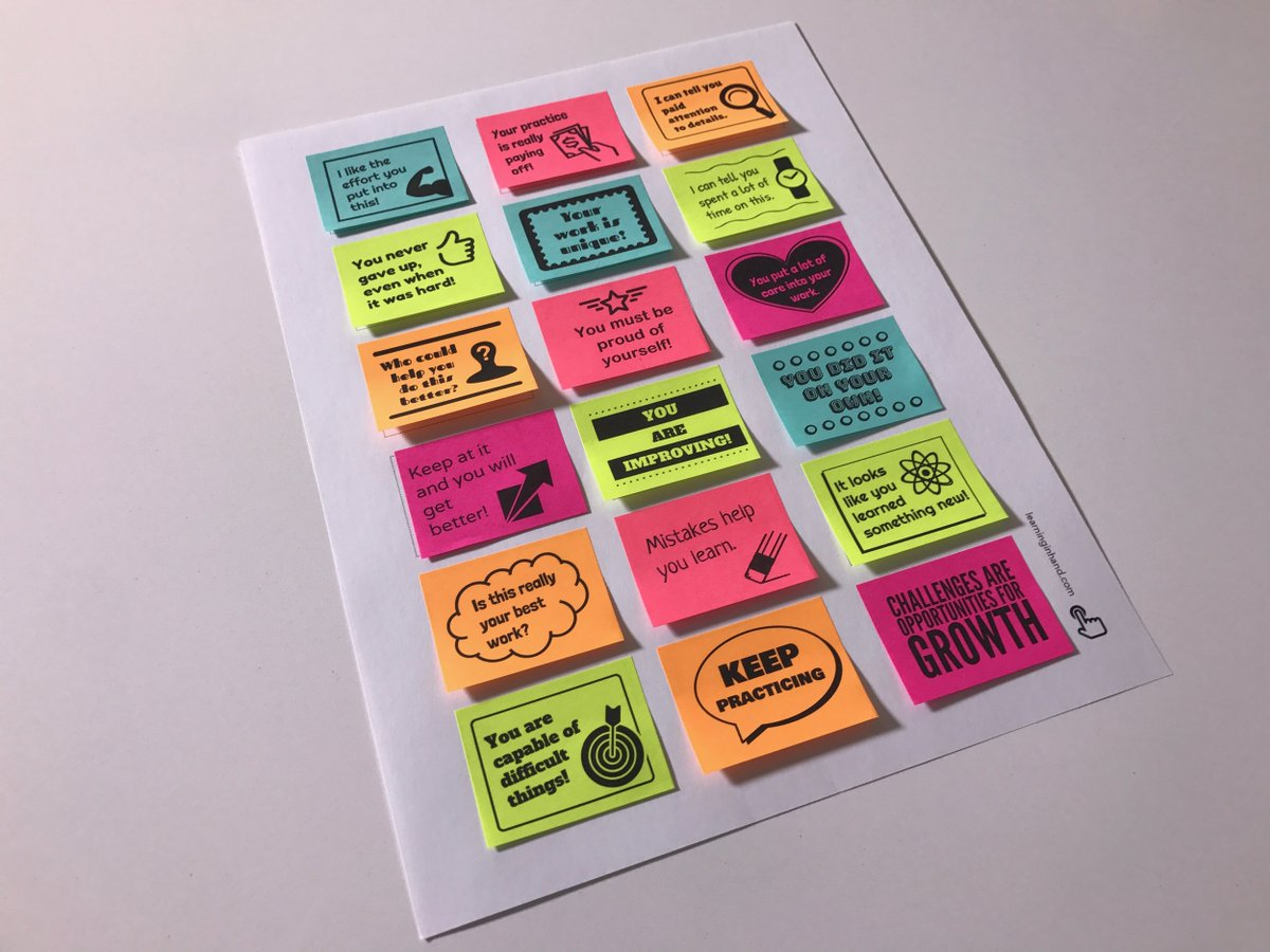tony vincent on twitter encourage a growthmindset with sticky notes get a copy of the. Black Bedroom Furniture Sets. Home Design Ideas
