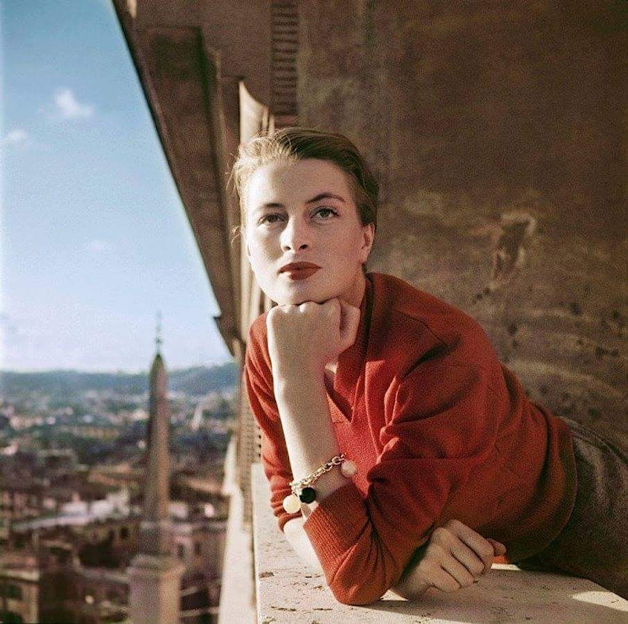 #Capucine. Model and actress. #Rome 1951.<br>http://pic.twitter.com/8j5GuzFw5T