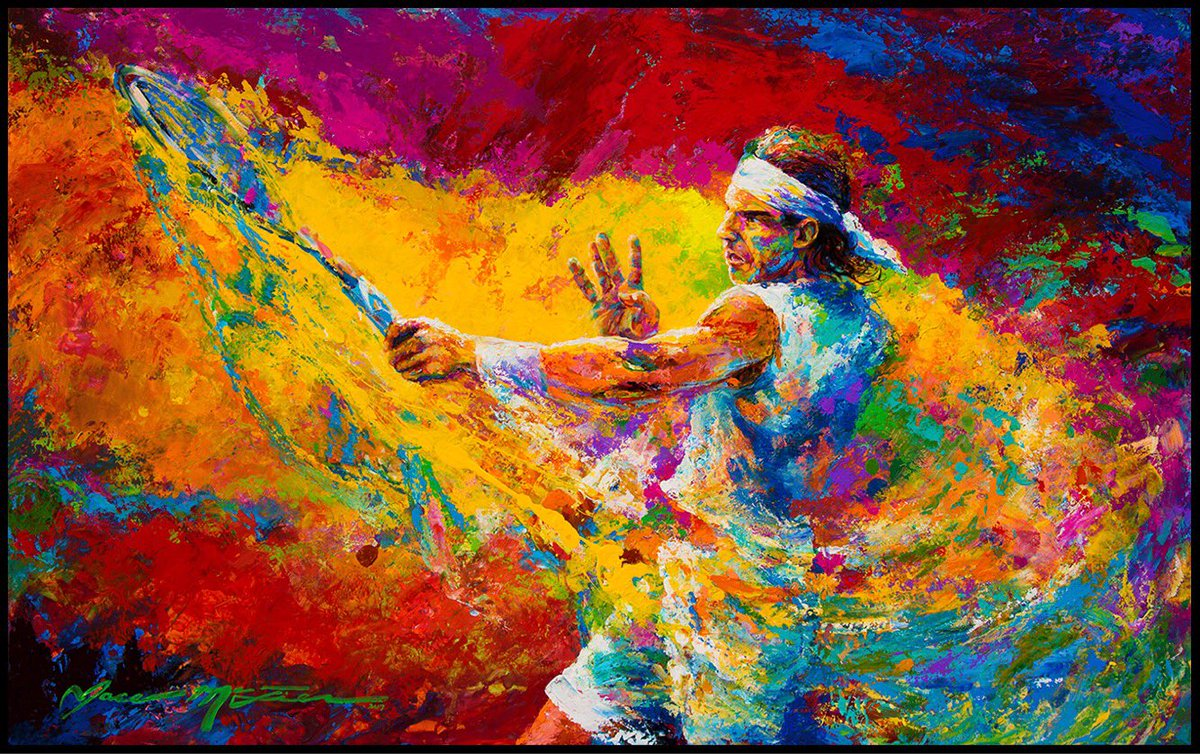 Jace Mctier On Twitter Huge Congrats To Rafaelnadal On Record Setting 10 Frenchopen Victory Tennis Art Lefty