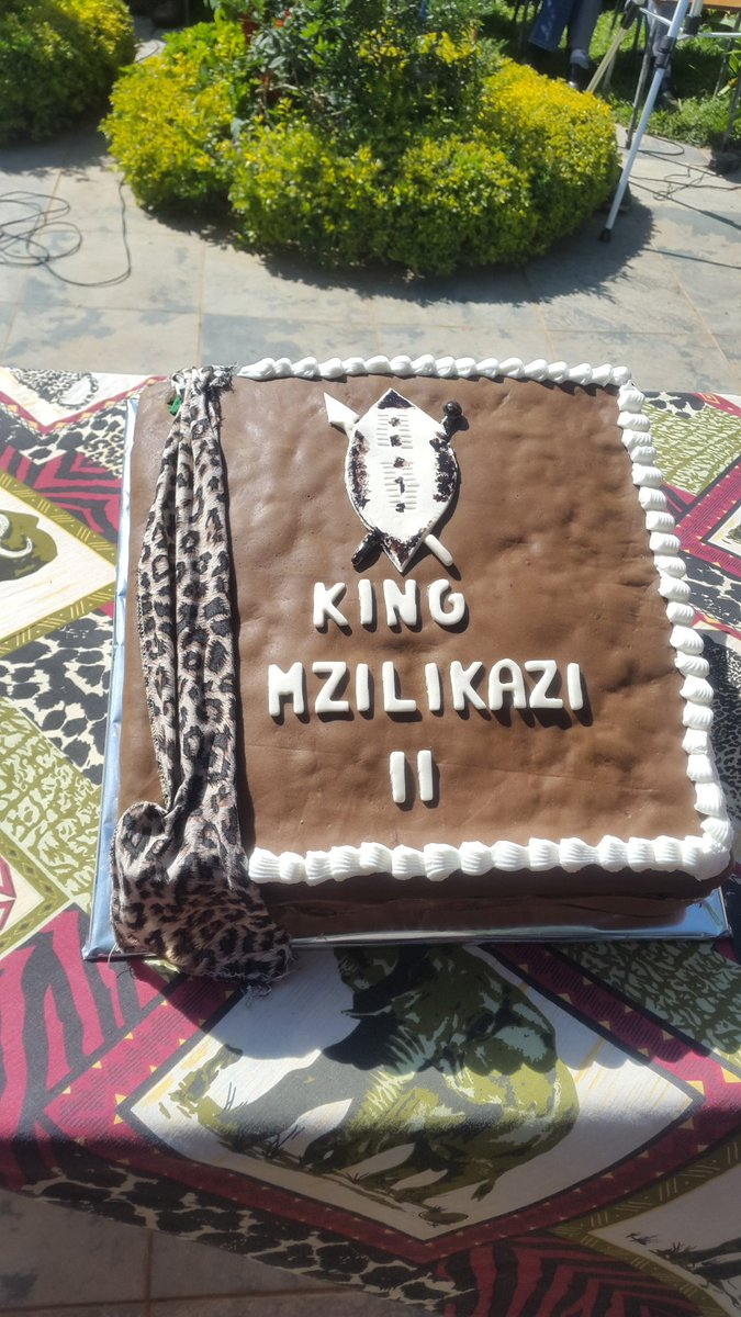 HRM King Mzilikazi 2 on Twitter Cake baked and shared as a symbol