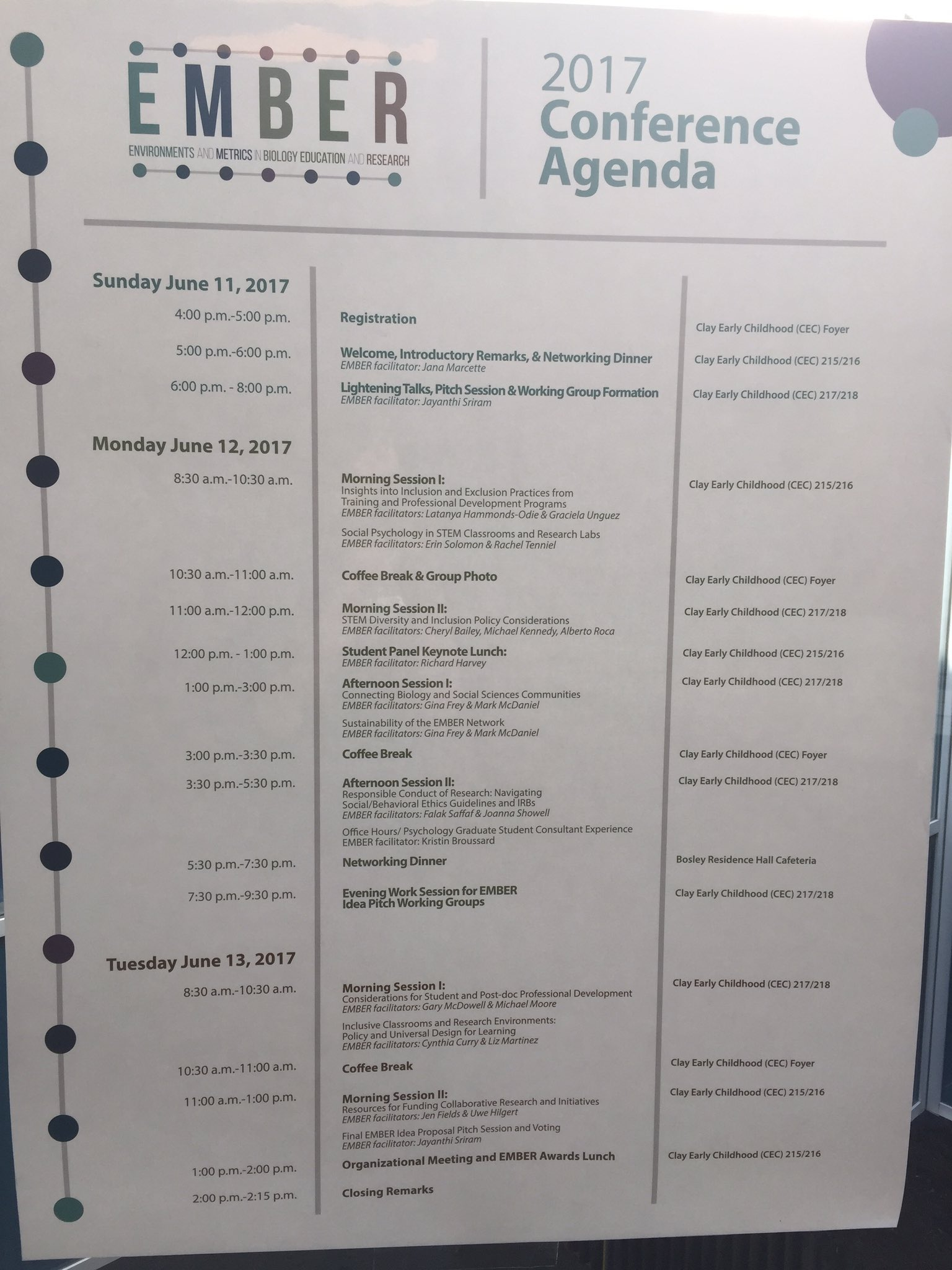 #EMBER2017 conference agenda https://t.co/ohMEGyW3Tl