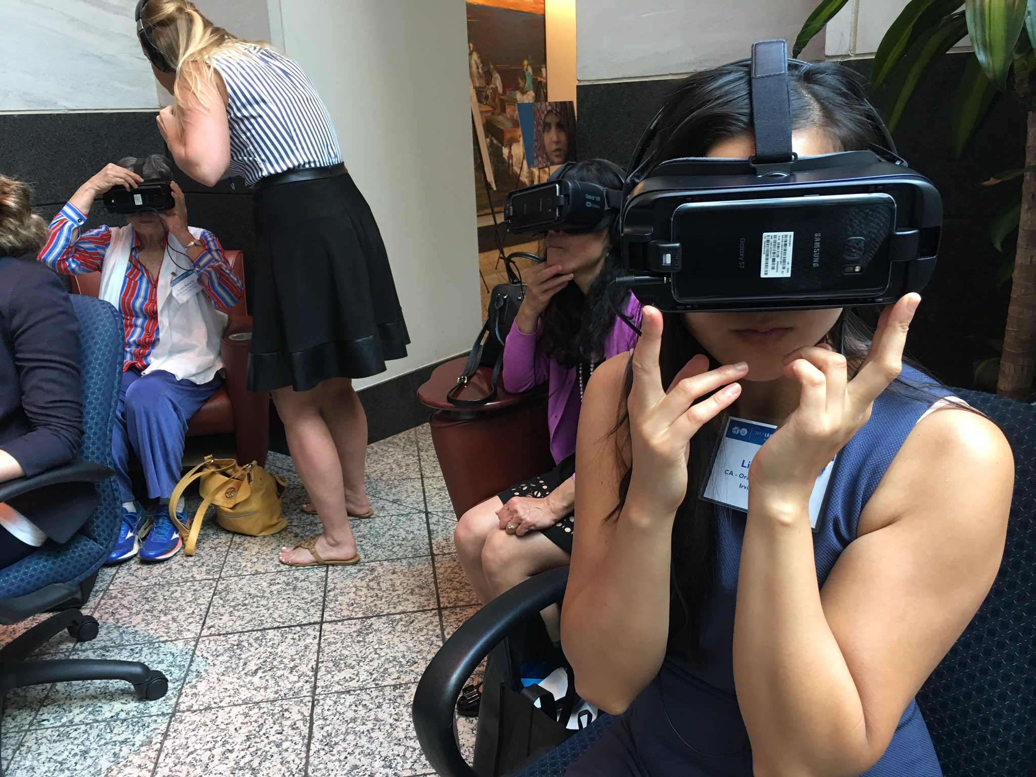 NOW: Members watch @nothingbutnets Virtual Reality film on why we must act now to #endmalaria! Learn more: https://t.co/X94CjTGhij #USAforUN https://t.co/csd85IvFIT