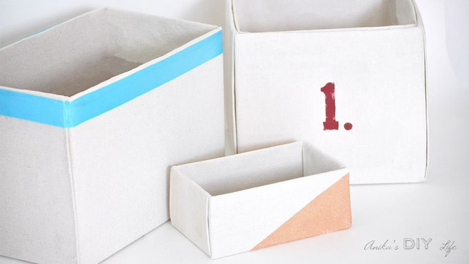 How to make Perfect No-Sew Canvas Storage Bins