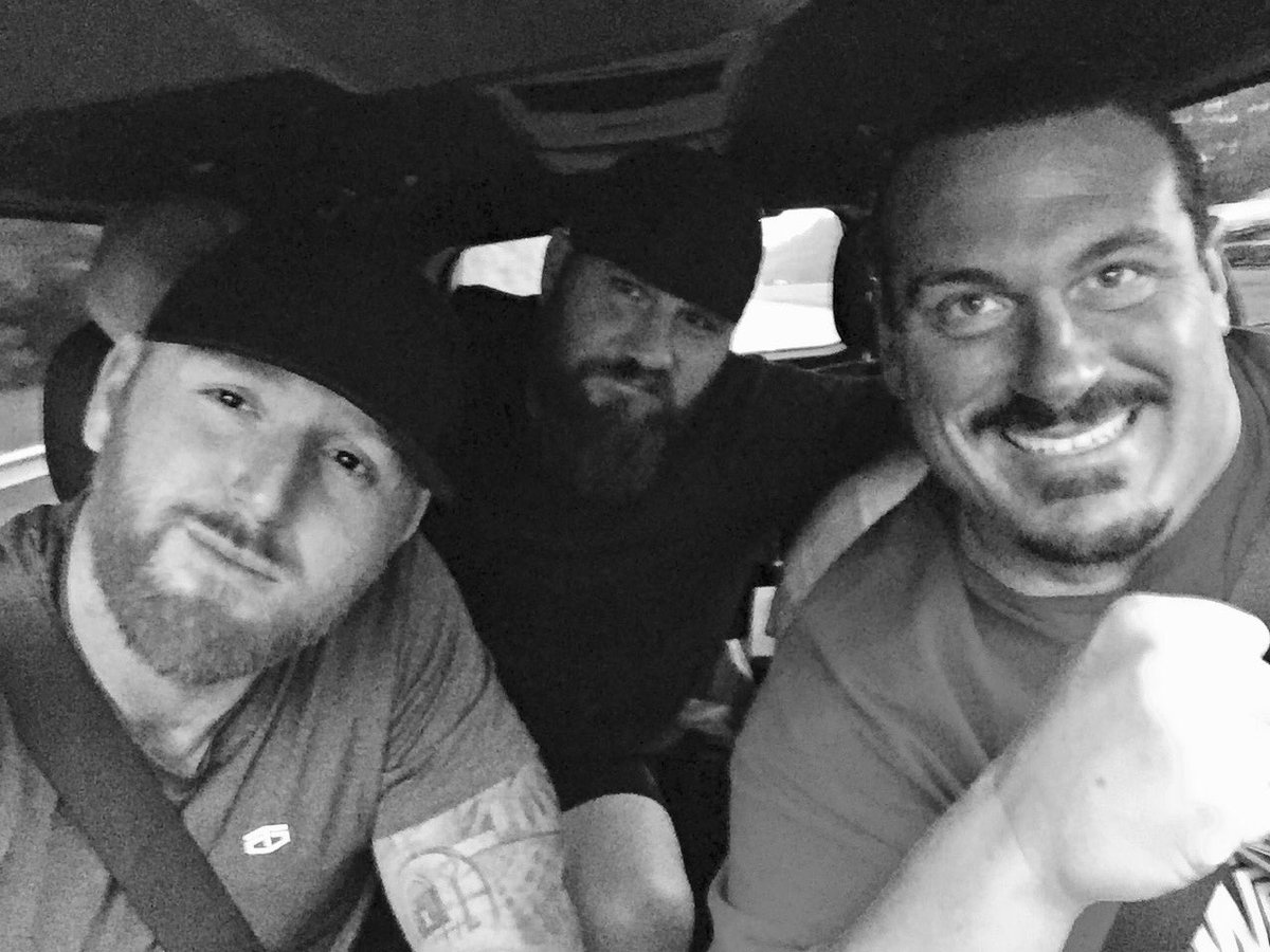 On the road with @Rhyno313 @RealCurtisAxel #TheCrew