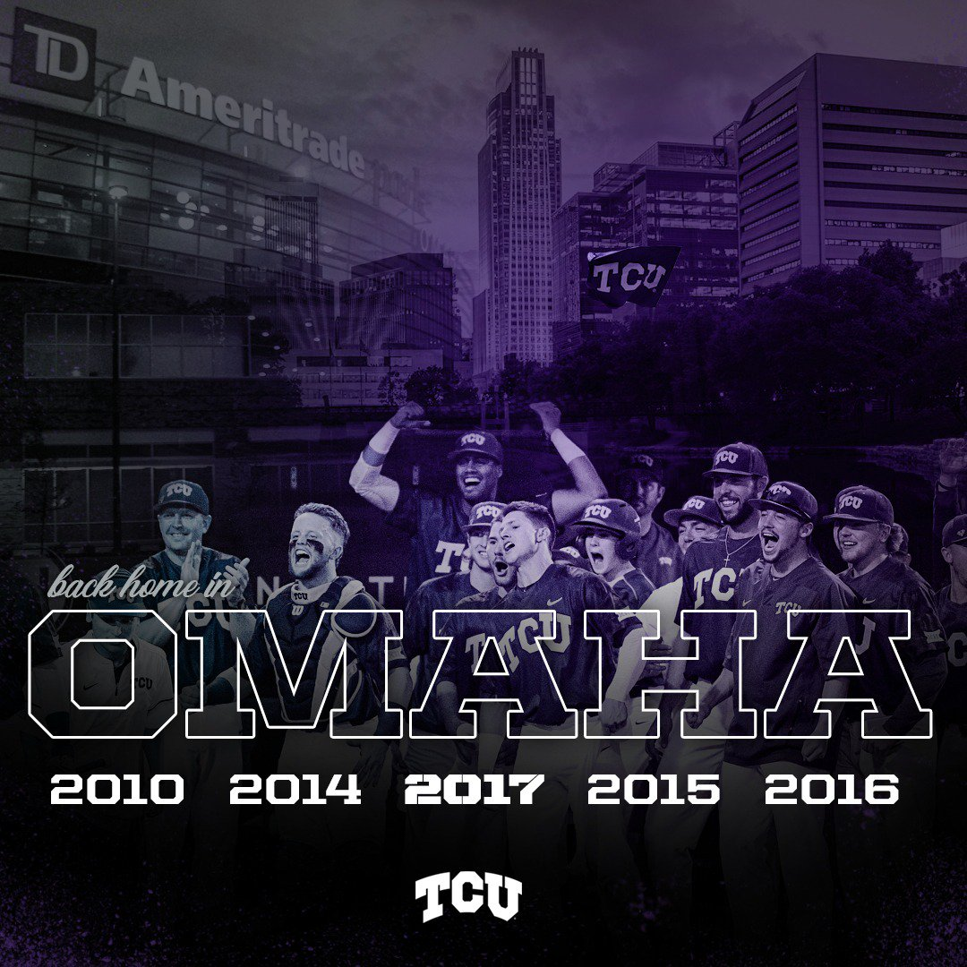 Make it an OMAHA 4-PEAT!!! We're going back to the Promised Land! #ToadToOmaha https://t.co/xnhLmemXXG