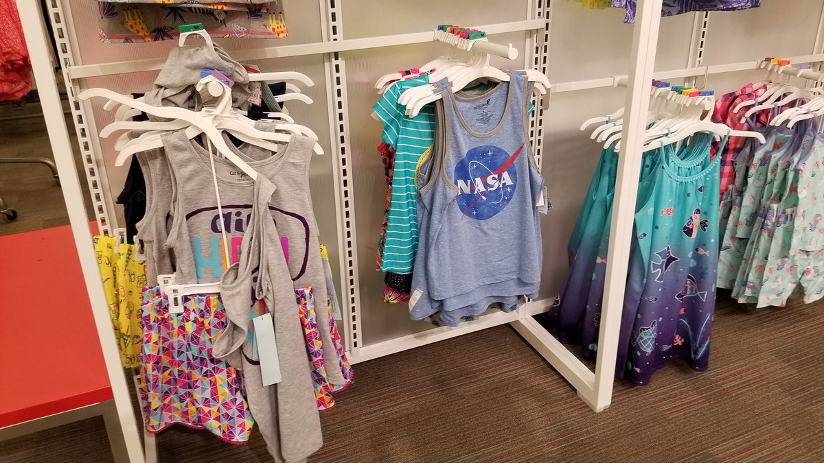 Did I just take a bunch of NASA tank tops from the boys section &...