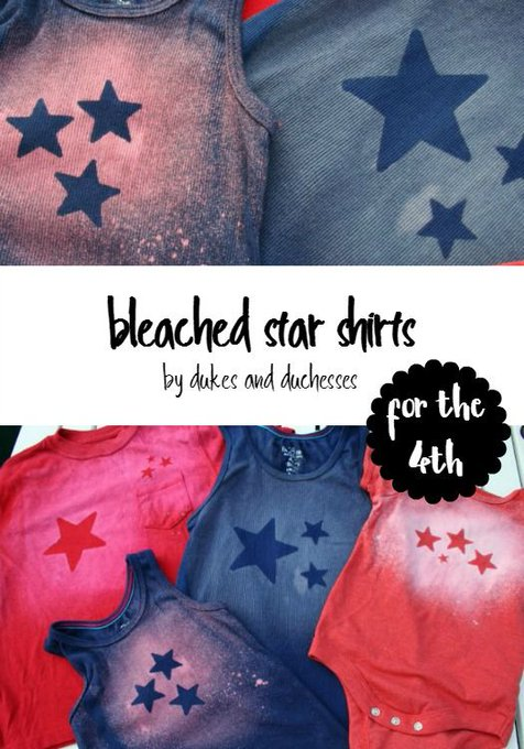 Bleached Star Shirts