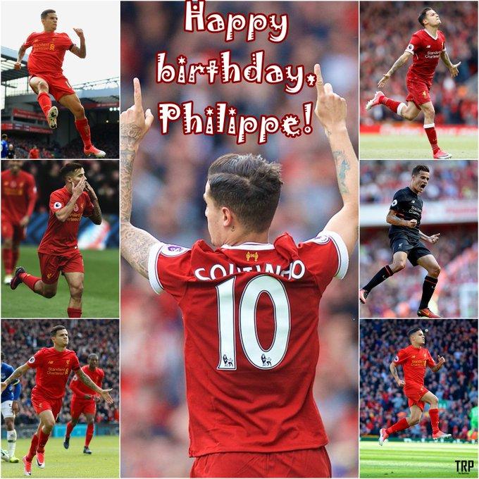 Happy birthday, Mr. Magic   Philippe Coutinho turns 25 today!