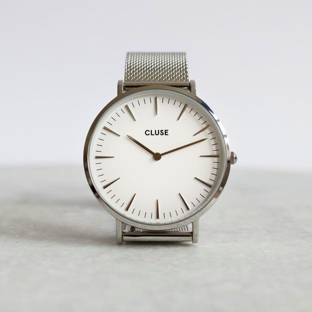 #Cluse #Regram - time to kickstart a new working week La Boheme Mesh Silver/White Watch £99 &gt;&gt;  http:// goo.gl/7Lc3SB  &nbsp;  <br>http://pic.twitter.com/EV5hivr1aX