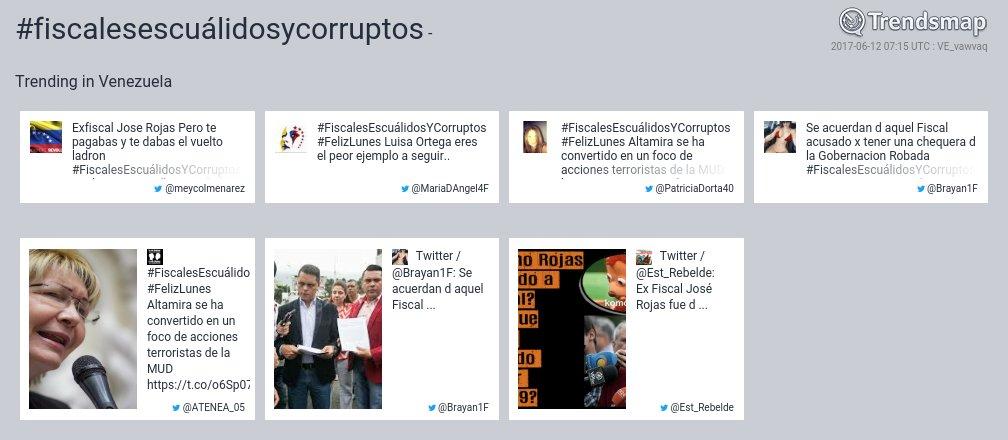 #fiscalesescuálidosycorruptos es ahora una tendencia en Venezuela  https://t.co/b2XGaGJ5FA https://t.co/5habqwrm6c