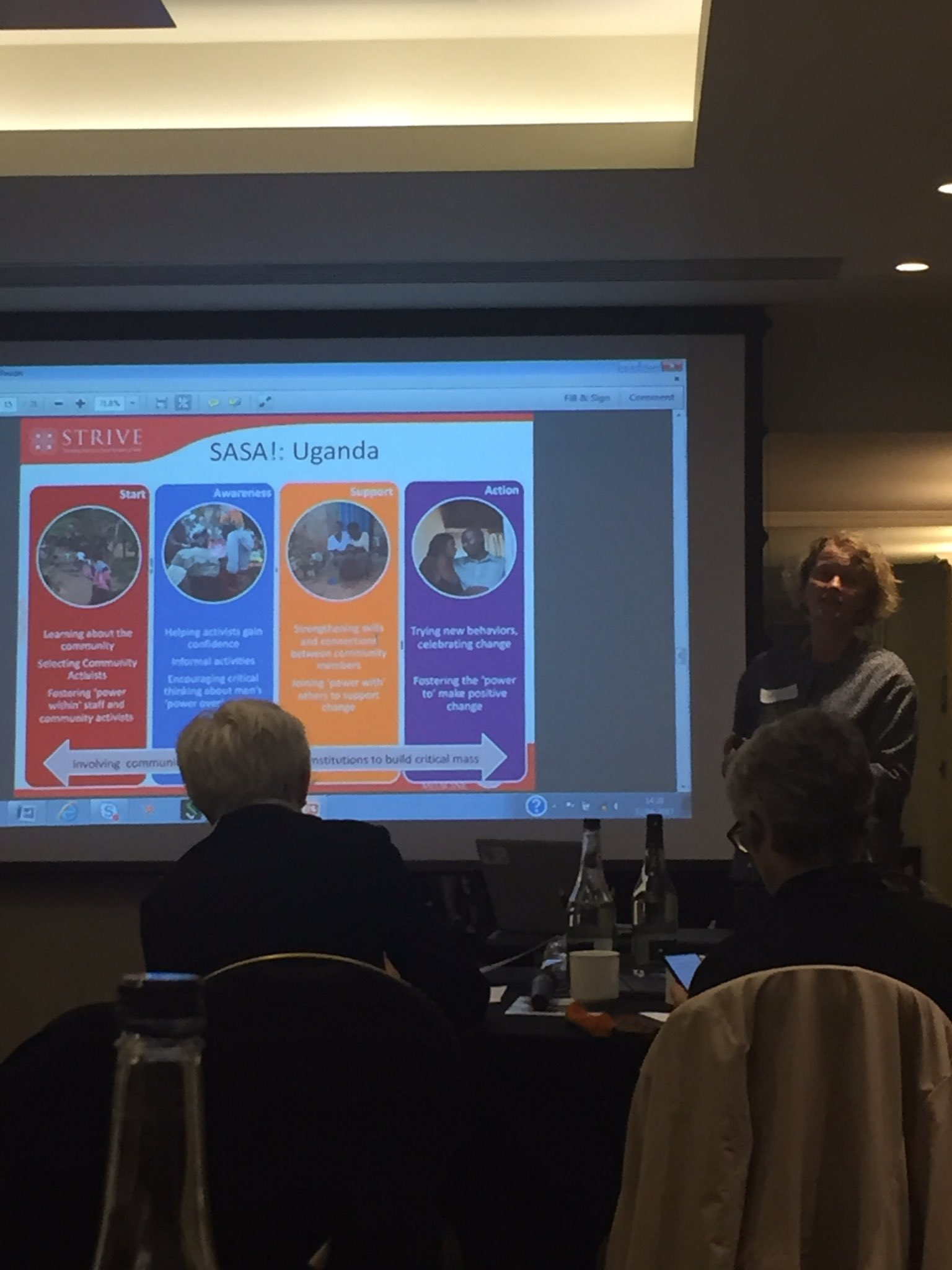 Prof Charlotte Watts from @hivdrivers tells us about preventing violence via community education programmes #swiftwomen https://t.co/DHzSjI4mJb