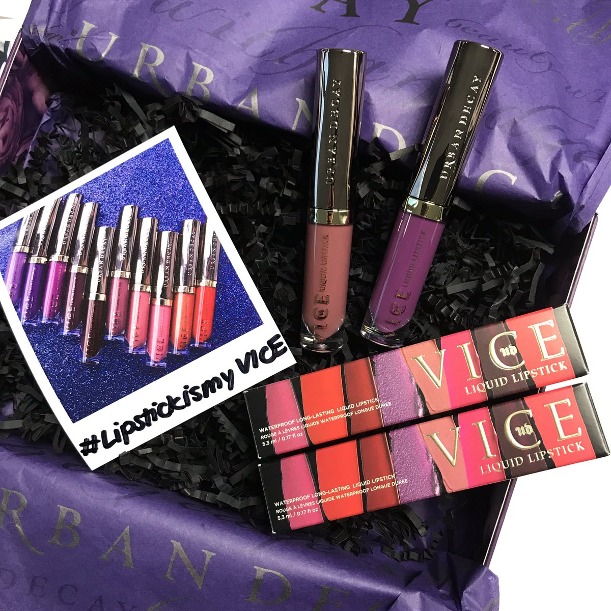 Thanks #UrbanDecaySA  you sure know how to make a bleh Monday brighter! Can&#39;t wait to try out these liquid lipsticks #LipstickismyVICE  <br>http://pic.twitter.com/2oD6z0tKcY
