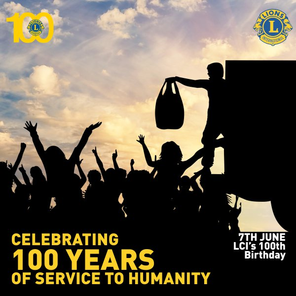 100 Years of Humanitarian Legacy!!  100 Years of #LionsClubs!! #LCI #Lions100 #Lions100Bday #ProudLions #MondayMotivaton<br>http://pic.twitter.com/j3mOWy0wxN