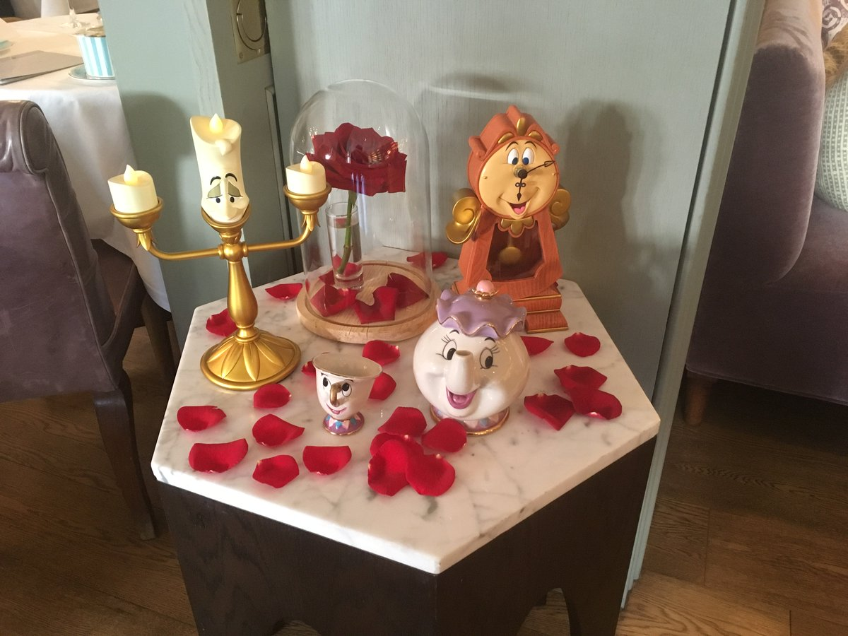 """Enjoyed a fab """"Beauty & The Beast"""" themed afternoon tea @HotelKensington   Be my guest! #vsukvisits #afternoontealondon #londonexperts"""