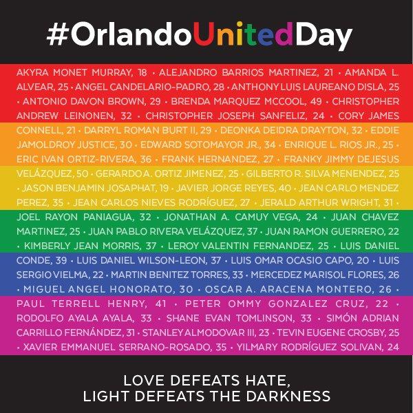 Thumbnail for #OrlandoUnitedDay remembered on social media