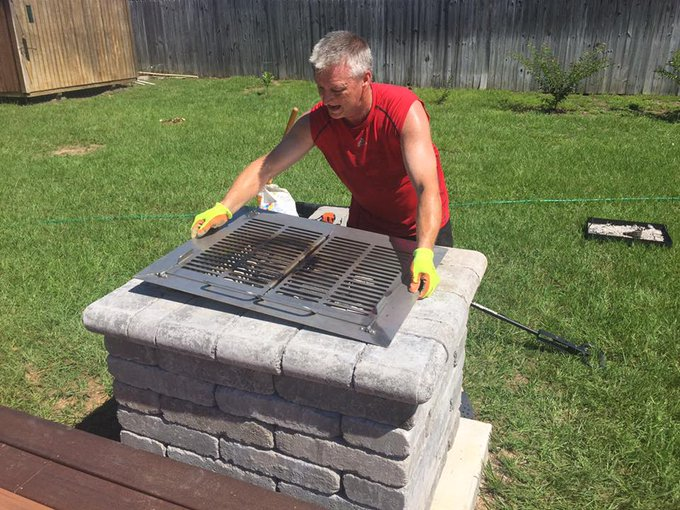 How to Install a DIY Gathering Grill/Fire Pit