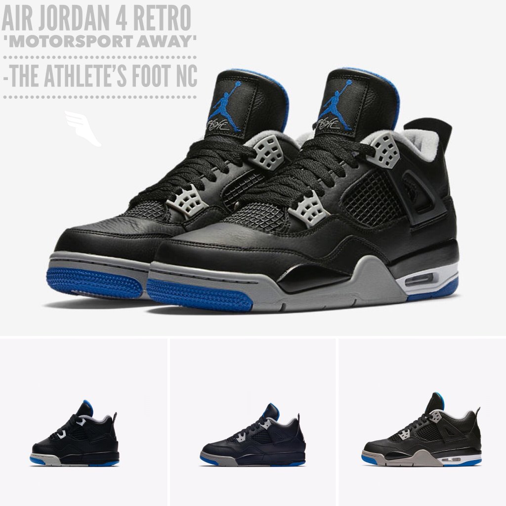 The Athletes Foot Nc On Twitter Reserve Your Pair Of Air Jordan 4 Retro Motorsport Away At A And Pick Up Reserved Release Day