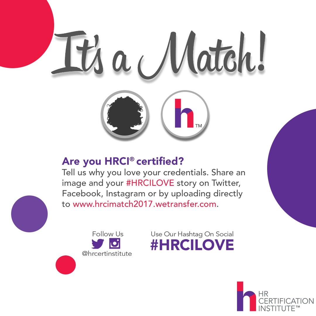 Hrci On Twitter Hrci Certified We Wanna Hear What Your